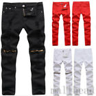 Fashion Mens Designed Skinny Ripped Straight Slim Fit Biker Denim Jeans Trousers