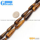 """Natural Tiger's Eye Gemstone Teardrop Beads For Jewelry Making Free Shipping 15"""""""