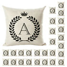 English Letter Stamp Cotton Linen Decorative Pillow Case Sofa Car Seat Christmas