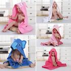 white Baby Kids Bath Hooded Cute Wash Towel 0-6 Years Animals Bathrobe Cartoon
