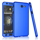 For Samsung Galaxy J7 Sky Pro / Perx 360° Protective Case Cover +Tempered Glass