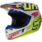 Fox Racing V1 Falcon MX Helmet Navy/White YOUTH Sizes