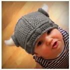 novelty horns - Kids Adults Viking Beanie Horns Knitted Hat Winter Novelty Raiders Norse Q