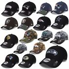 NEW ERA CAP 39THIRTY NFL BLACK SHADOW SEAHAWKS PATRIOTS RAIDERS COWBOYS UVM