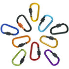 Aluminum D-Ring Carabiners Spring Clip Lock Keychain Hook for Camping, Hiking
