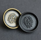 12pcs Lion Shank Buttons Round Metal Sewing Coat Button Embellishment 18 25mm