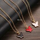 Women Love Heart Butterfly Pendant Necklace Gold Color Necklace Fashion DZ88
