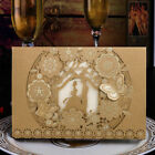gold invitation cards - Printing Personalized Western Gold Wedding Invitation Cards & Envelopes & Seals