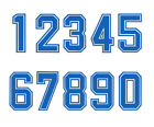 Iron-On Vinyl Transfer Blue Bold Font Number Football Baseball Sports T-Shirt