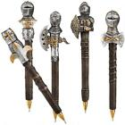 Set of 5: Medieval Knights Dragon Slayers Writing Pen Set