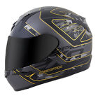 Scorpion EXO-R410 Convoy Full Face Motorcycle Helmet Black/Gold Adult Sizes