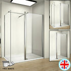 1850 Walk In Wet Room Shower Enclosure Screen Flipper 8mm Glass Panel Tray Waste