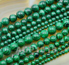 """Natural Malachite Gemstone Round Spacer Loose Beads 16"""" 4mm 6mm 8mm 10mm 12mm"""