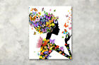 Flower Winged Fairy Girl Modern Art Poster Print Wall Room Decor Canvas Painting