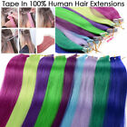 20''24''10Pcs/lot Straight 100% Remy Hair Tape in Human Hair Extension Skin Weft
