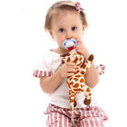 Baby Infant Elephant Dummy Pacifie Chain Clip Plush Animal Toy Soother Nipple