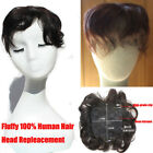 New 30g Curly Human Hair Seamless Fluffy hair Replacement Topper Toupee Mom Gift