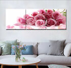 "Valentine's Pink Roses Home Wall Decor Modern Art Prints On Canvas 16x16""x3pc"