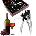 Hot 9Pcs Easy-to-use Wine Bottle Opener Winged Corkscrew Collar Pourer Set Gifts