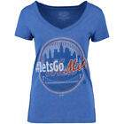 New York Mets Majestic Threads Womens #Letsgo   - Royal