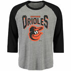 Baltimore Orioles Majestic Threads 3 4 Sleeve Heather Raglan