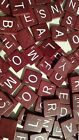 SCRABBLE - REPLACE LOST TILES - NATURAL WOOD, MAROON/RED, DARK BURGUNDY, BLACK
