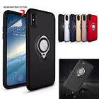 New Magnetic Ring Finger Holder Stand Hard Case Cover For Apple iPhone X 8 7