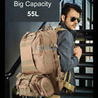 Large Capacity Outdoor Military Tactical Bag Camping Hiking Trekking Backpack