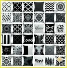 "20x20"" Black & White Accent Throw PILLOW COVER Sofa Couch Be"