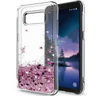 IZENGATE Cell Phone Hybrid Glitter Bling Shiny Liquid Clear TPU Case Cover