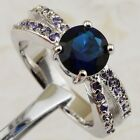 Size 6 7 8 9 Beauty London Blue Topaz Jewelry Gold Filled Woman Gift Ring K2109