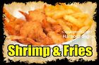 DECAL (Choose Your Size) Shrimp & Fries Food  Sticker Sign Restaurant Concession