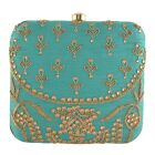 Women Bridal Fancy Party Hand Box Clutch Purse with Detachable Sling