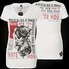 YAKUZA Damen T-Shirt Roses Are Red GSB-11123 White Weiß
