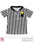 Mens REFEREE T SHIRT Accessory for Ref Sport Linesman Fancy Dress