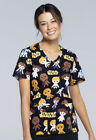 Good Guys Cherokee Scrubs Tooniforms Star Wars V Neck Knit Panel Top TF625 SRGG $19.99 USD on eBay