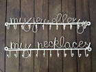 Vintage Style Cream Metal My Jewellery My Necklaces Hooks Display Holder