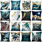 Blue Ocean Accent Decorative Throw Pillow Cover Sofa Couch Cushion Case 18x18""