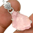 Pink Kunzite Rough 925 Sterling Silver Pentant Jewelry PP106601