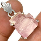 Pink Kunzite Rough 925 Sterling Silver Pentant Jewelry PP106602