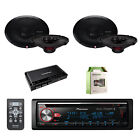 Pioneer CD Bluetooth Receiver with Rockford Fosgate Speakers, Amplifier & wire