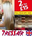 100% Real Thick Hair Extensions Long Curly Full Head Hair Extentions Heat Resist