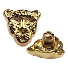 12 Pcs Gold Novelty Lion Shank Button Metal For Sewing Or Embellishments 12mm