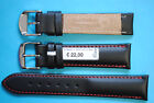 Red Line Lederband schwarz 18 20 22mm mit roter Naht Made in Germany