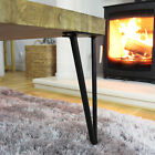 """4 x 12"""" Hairpin Legs / Hair Pin Legs Set for Furniture Bench Desk Table Steel"""