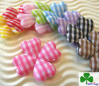 "50 - 90pc x 1"" Mix (9-Color) Padded Gingham Cotton Clover Flower Appliques ST480"