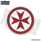 Knights Templar Round Shield Decal Cross Vinyl Car Truck Sticker V4 EVM