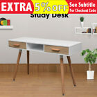 1.2M Scandinavian Retro Study Desk Office Home Matt Finish Black White Burlywood