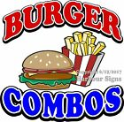 Burger Combo DECAL (CHOOSE YOUR SIZE) Food Truck Sign Concession Vinyl Sticker