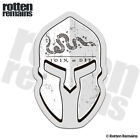 Join or Die Flag Spartan Helmet Decal American Revolution War Gloss Sticker HVG
